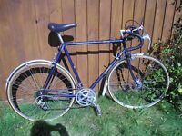 "Dawes Galaxy (Reynolds 531 ST) touring bike .24"" large frame. Dark blue"