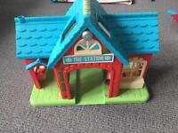 Fire station toy with sounds