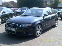 Audi A4 Avant 3.0 TDI S Line Quattro 5dr 2005 (05 REG) BLACK ESTATE, SAT NAV, FULL LEATHER, BARGAIN