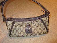 Ladies Gucci Brown/Beige Shoulder Bag - Genuine Item