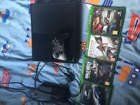 X box one with 4 games £100