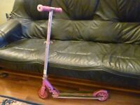 lovely pink jdbug classic junior foldable push scooter for 4 to 8 year olds....