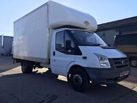Ford transit 350 LWB Luton 2.4TDCI with tailift 56 Reg courier pallet delivery removal man and van.