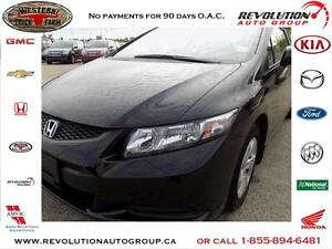 2013 Honda Civic Cpe LX FWD 5-SPEED
