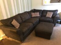 Brown fabric corner sofa immaculate condition smoke free home large foot stool cleaning kit