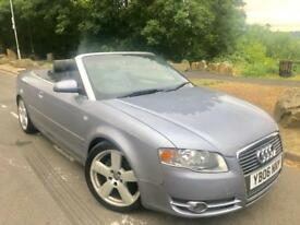 2006 Audi A4 s line 2.0 tdi 140 Bhp 6 speed convertible # full leather # s/h# e/roof