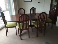 Morrison of Glasgow mahogany extending dining table & 6 chairs