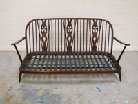 Mid Century Vintage Retro ERCOL 3 SEATER SOFA WITH CUSHIONS (Free Local Delivery)