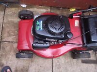 petrol honda lawnmower self-propelled