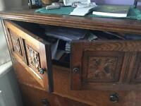 Set of antique chest of draws and vanity desk