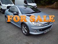 ★ 03 Peugeot 206 1.6 petrol ( Convertible ) ★ Recent cambelt kit & clutch ★tigra mg tf fiat 500 307