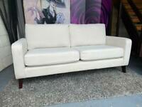 New Furniture Village 3 Seater Sofa in Natural Colour Fabric