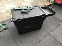 Shakespeare WorldClass Team Seat box with Side Tray Butt Rest Fishing SeatBox