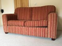 Large 2/3 Seater Sofa & Footstool with storage