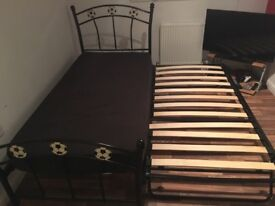 Single guest bed with mattres