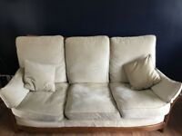 Ercol Handmade British Sofa and 2 armchairs