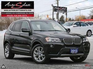 2013 BMW X3 xDrive28i AWD ONLY 66K! **360 VIEW CAMERAS** CLEA...