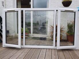 "Nearly new double glazed windows. Size 2.21m X 1.19m (87""x46"") buyer to collect. £250 ono"