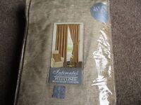 """New Lined Curtains - size 46"""" x 90"""" (117 x 228) - Colour Latte/Gold"""