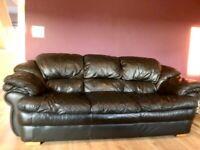 Italian leather (genuine leather) plush sofa set