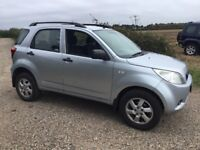 2007 57plate daihatsu terios 1.5petrol 5 speed manual 5 door presented in silver