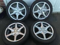 """15"""" 4 Stud Wolf Race Alloy Wheels"""