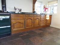 Solid oak German kitchen