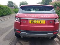 Range Rover Evoque, alloy wheels and leather interior, 12 mths MOT, 2 keepers, low mileage, fsh