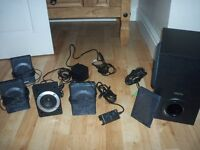 CREATIVE INSPIRE P5800 SPEAKERS WITH SUB WOOFER - USED BUT WORKS PERFECT