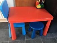 Ikea kids table and stools