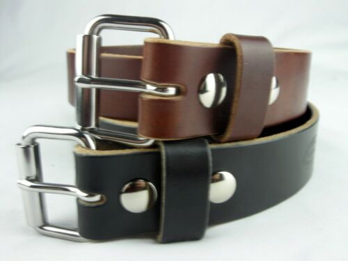 "1 1/2"" Heavy Duty Leather Work Belt_amish Handmade_ccw Gun Holster Belts"