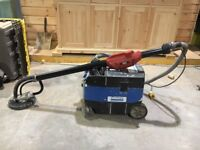 Flex plasterboard/drywall wall and ceiling sander with vacuum