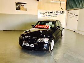 BMW 123D M SPORT TWIN TURBO DIESEL,, 2008 PLATE, 85000 MILES,, 12 MONTHS MOT,, BLACK..