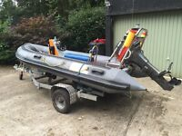4m Boat for sale - 4m Rib with trailer & outboard engine