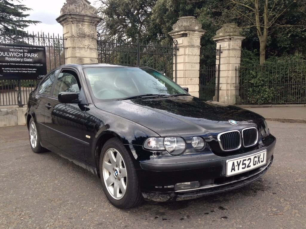 2002 black bmw 316i compact long mot drives as new in sydenham london gumtree. Black Bedroom Furniture Sets. Home Design Ideas