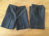2x Boys grey school shorts age 7
