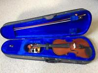 Stentor Student 2 - Size 3/4 Violin with Case, Selection of Books, Collapsible Stand and Rest