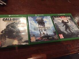 XBox One Games, Starwars Battlefront, Rise of the Tomb Raider & COD Advanced Warefare