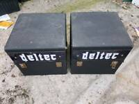 Deltec LP Record Boxes. Vinyl storage. Used. Hurley. Maidenhead