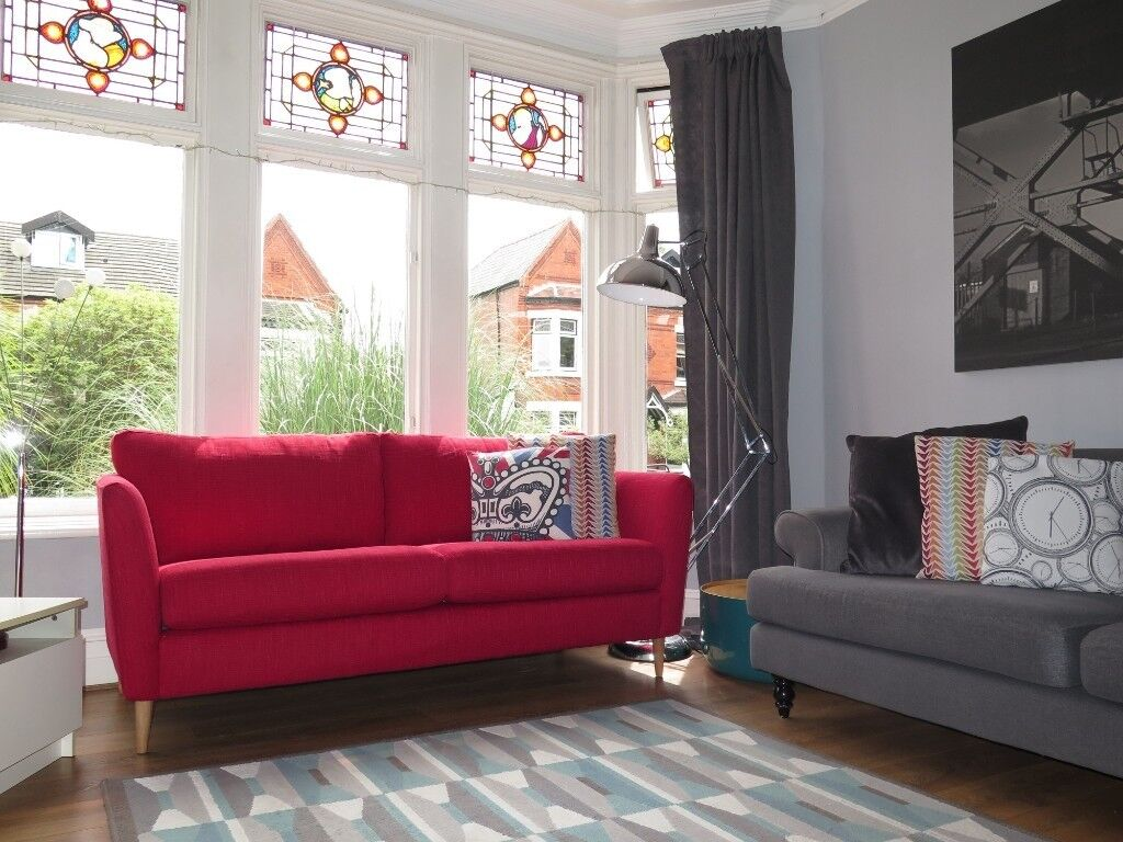 Red Marks Spencer M S 3 Seater Sofa