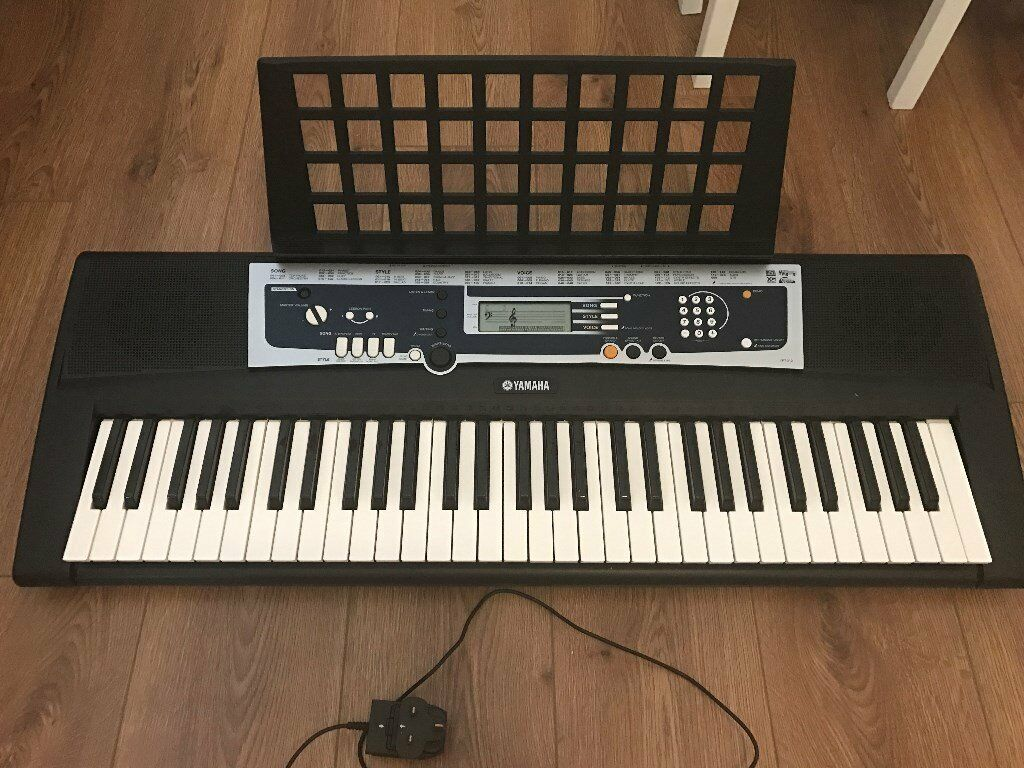 Yamaha Ypt 210 Electronic Piano Keyboard With Sheet Music Holder 61
