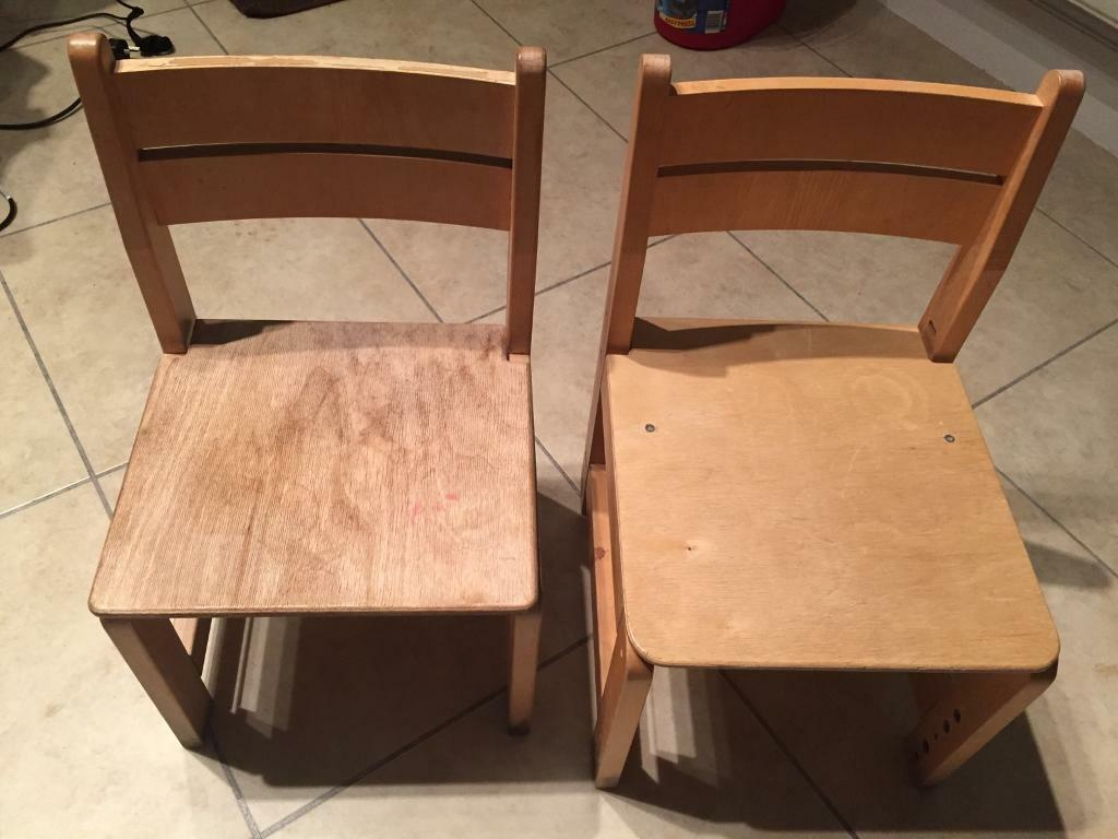 2 children's chairs