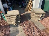 Concrete slabs 2' x 2'