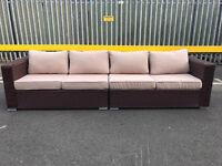 Extra large 4 seater rattan outdoor garden sofa