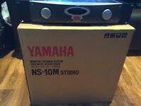 Yamaha NS-10M Studio, Ns10 NS 10 Nearfield Mixing Monitors & Alesis RA300 Amplifier