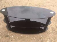 Black 3 Tier glass tv stand