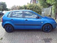 2004 Volkswagen Polo 1.2 petrol manual, new 1 year MOT, service history, good runner, cd player,
