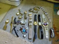 Job Lot Bulk Carboot Collection of Quartz Watches with Batteries,