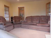 FREE THREE-PIECE SUITE: Sofa & Two Armchairs -