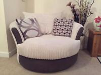 DFS Swivel Sofa Arm Chair - Barely Used!!